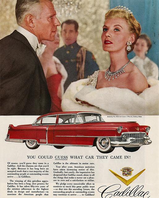 Cadillac 1954 ad