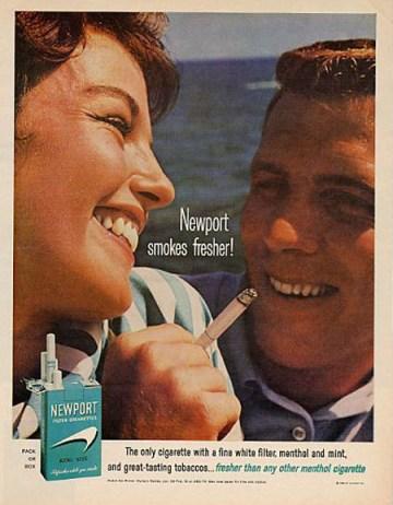 Newport Cigarette Ad 1964 morning cigarette