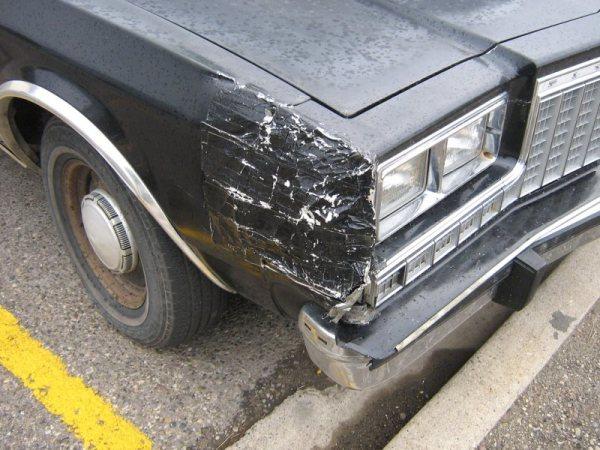 Duct tape body repair