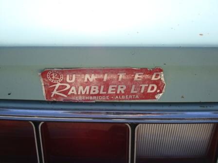 AMC Matador 1974 Dealer-sticker