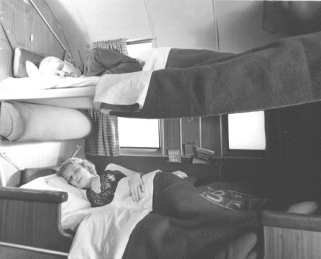 Airplane sleeper bunk