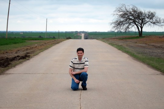 Me on old US 66 in Oklahoma