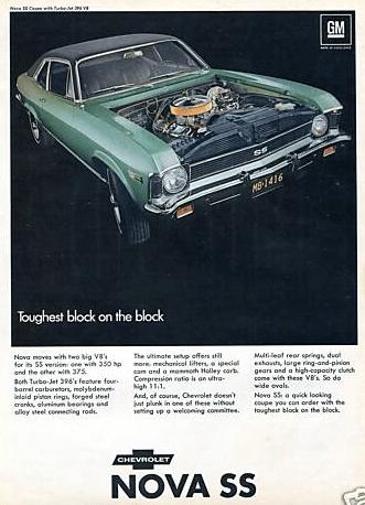 Chevy Nova SS 396 ad