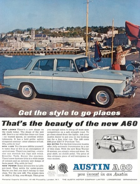 a60 advert