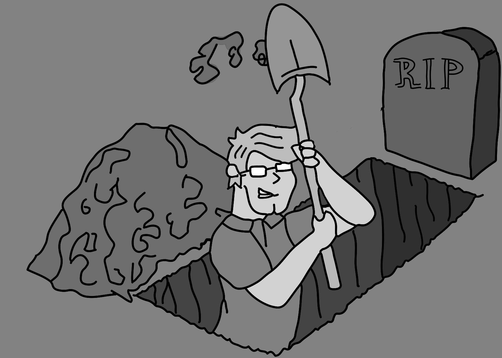 cartoon-digging-grave-bw
