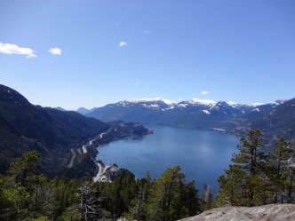 View from the Chief in Squamish, BC