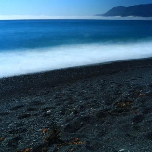 black sand beach cali road trip