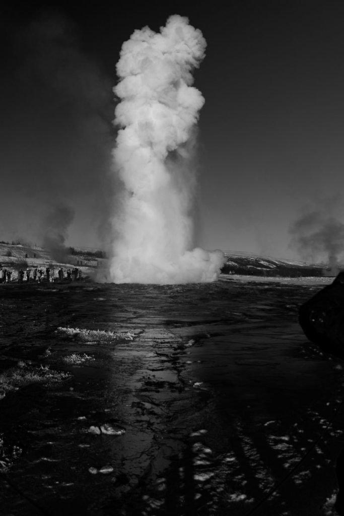 Geyser on the Golden Circle
