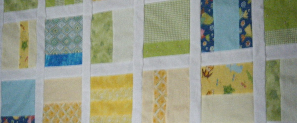 Close up of quilt top