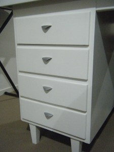 Close up of drawers and new handles