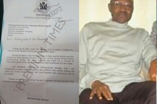 buhari and his letter to National assembly