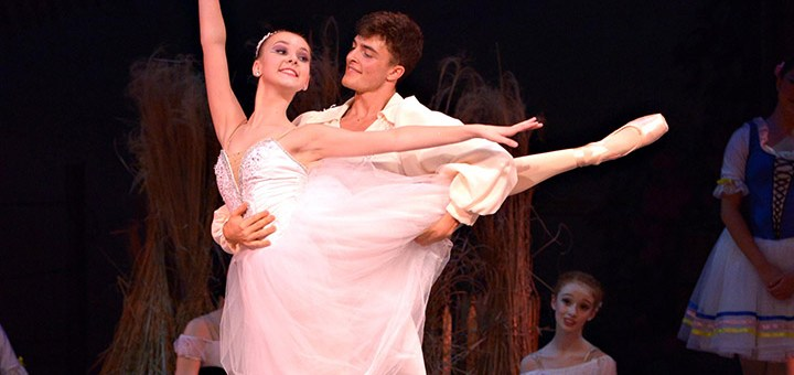 """IBC students Olivia Behrmann (left) and Jackson Schene from IBC's most recent full-length ballet at the end of May, a performance titled """"La Fille mal Gardee."""" (Submitted photo by Renzulli Photography)"""