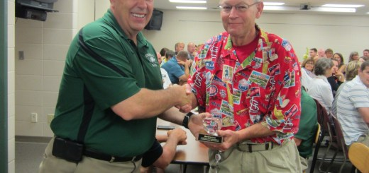 ZCHS social studies teacher, Dave Sollman, retires after nearly 23 years of teaching. Principal Tim East presented Dave with his award at the teacher breakfast on June 2.