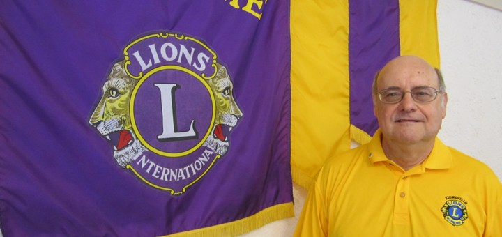 Mike Heffner, president of the Zionsville Lions Club, stands inside the Lions Clubhouse on Elm Street. Heffner moved to Zionsville after working in the retail business for more than 35 years. He is this year's new Lions Club president.