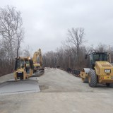 The Ford Road Bridge in Zionsville is still under construction, but is scheduled to open this week. (Photos by Christina Pappas)