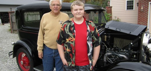 Stephen and Chase Schanke show off their Model A Ford. (Photos by Sophie Pappas)