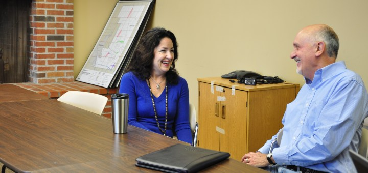 Susana Suarez, left, and Steve Mundy are ready to lead the Zionsville Town Council in 2015 as vice president president, respectively. (Photo by Heidi Schmidt)