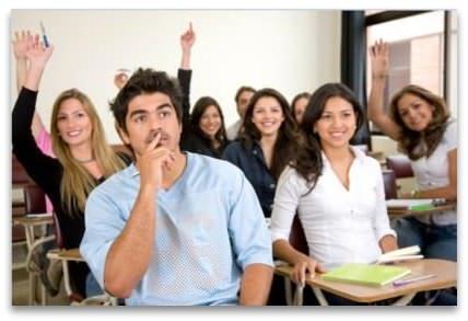 Estudantes na escola de ingles