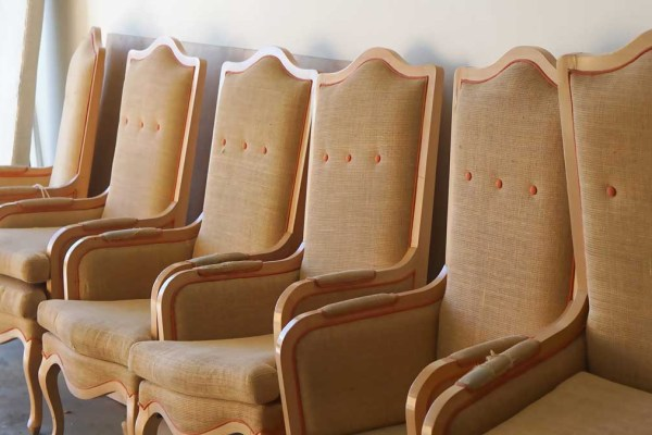 DINNING CHAIRS REUPHOLSTERED BY WM DESIGN