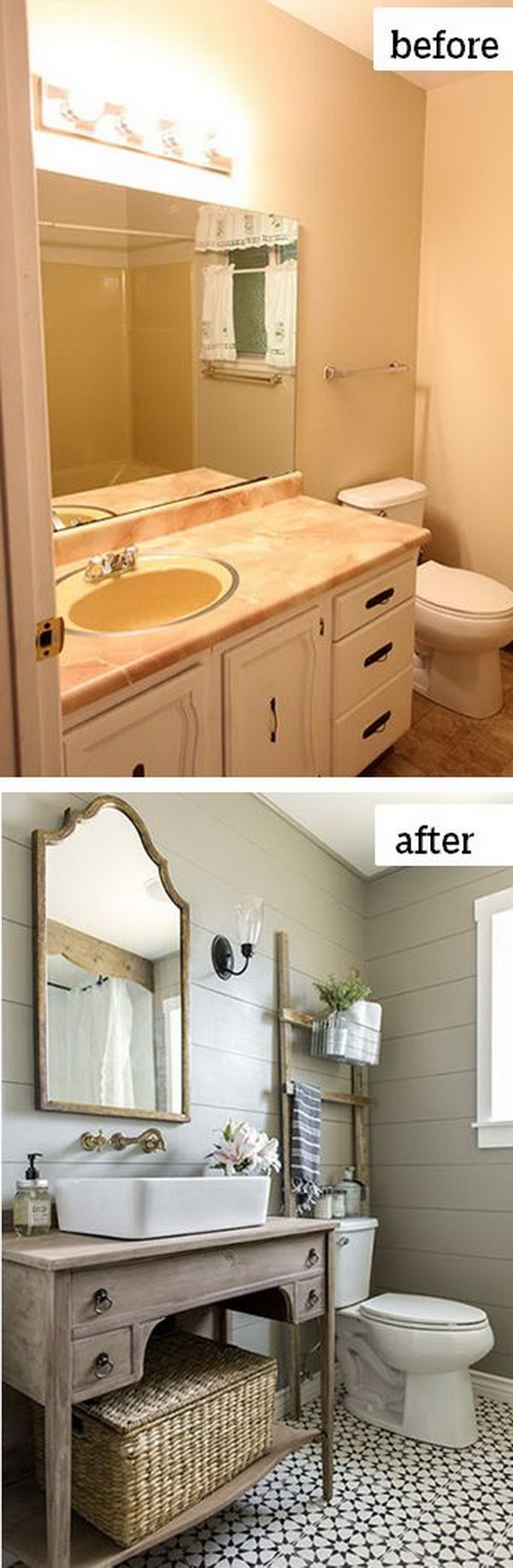 5 must see bathroom makeovers with estimated costs for 1 2 bath remodel ideas