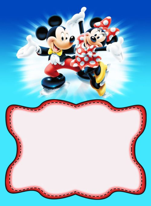 Medium Of Mickey Mouse Invitations