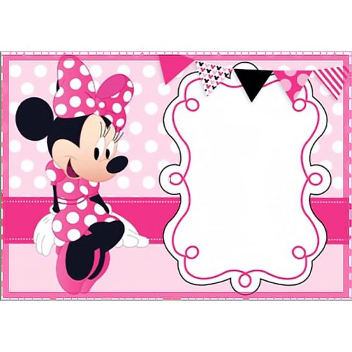 Medium Crop Of Minnie Mouse Birthday Invitations