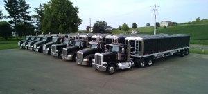 chippewa Valley Grain Transport Semi Truck Fleet