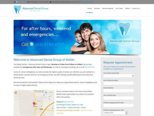 Website Designers Wallan - Advanced Dental Group