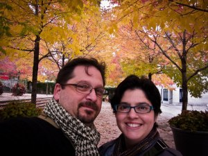 Enjoying the fall colors in Montreal
