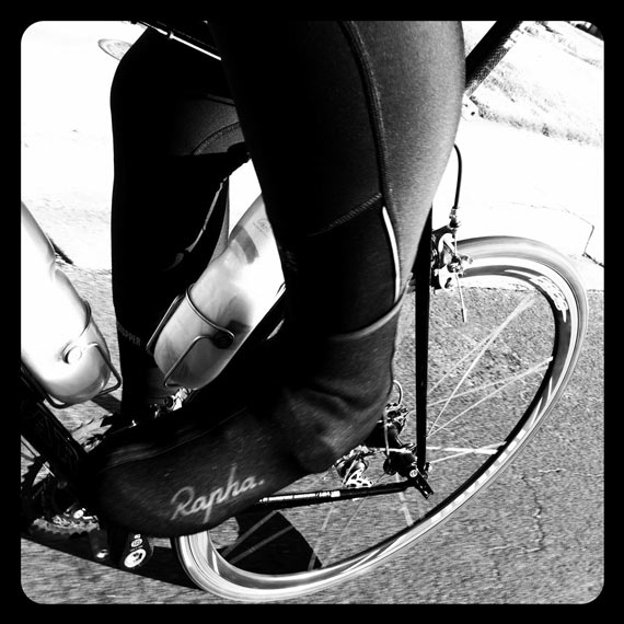 Rapha Overshoes Hot Pedaling Action | Cycleboredom