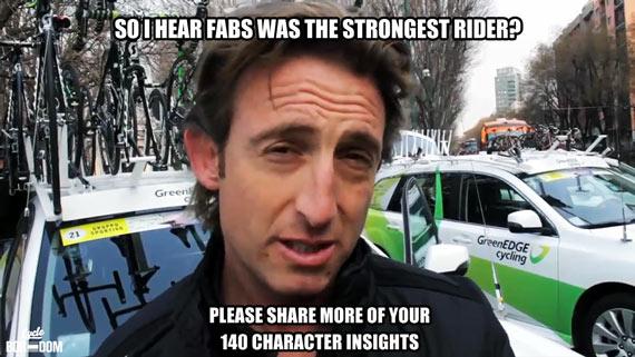 Cycleboredom | Screencap Recap: Milan-San Remo - Matty White Meme