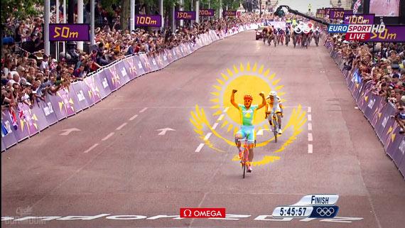 Cycleboredom | Screencap Recap: Men's Olympic Road Race - Victorious Saluting