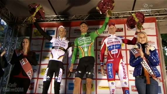 Cycleboredom | Screencap Recap: GP Neerpelt - Creepy Podium