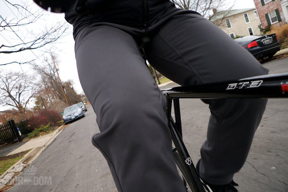What I'm Riding: swrve Softshell Trousers | Cycleboredom - Gusset Action
