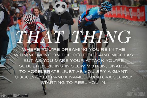 Remix: Mantova the Panda Chases Down Purito and Dan Martin During a Fever Dream