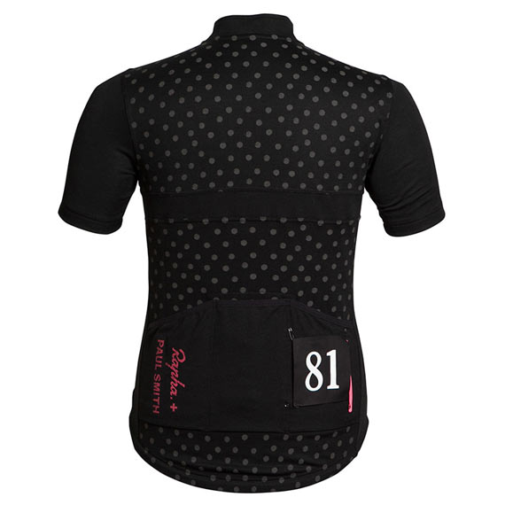 Released: Rapha + Paul Smith Black Jersey - Back Side