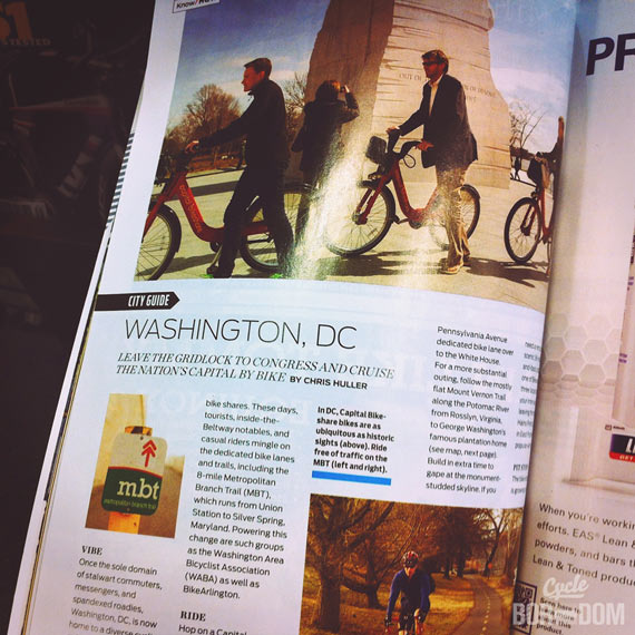 Published in Bicycling Magazine! (No, Really!)