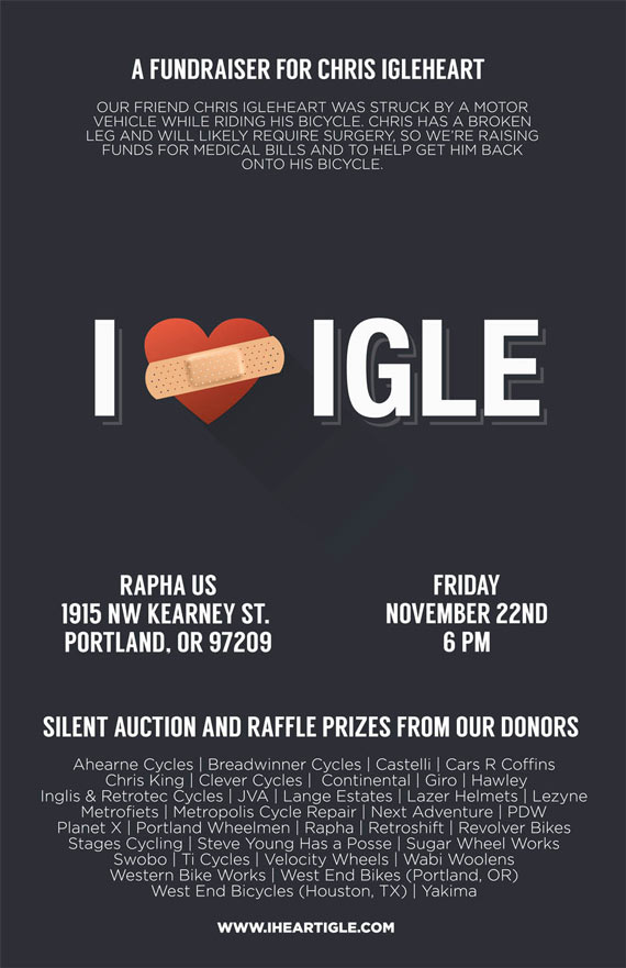 Swobo Fundraiser For Chris Igleheart