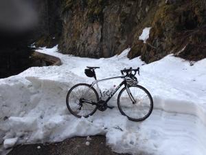 Ooops, road still under snow