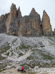 Tre Cime di Lavaredo just above rifugio lavaredo