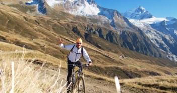 Glacier du Tour high on right