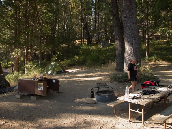 Typical campsite at Wawona