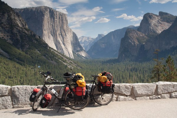 Famous view is Yosemite Park