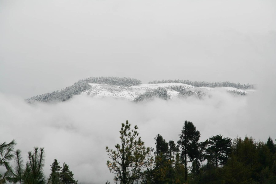 first snow at Ura Valley