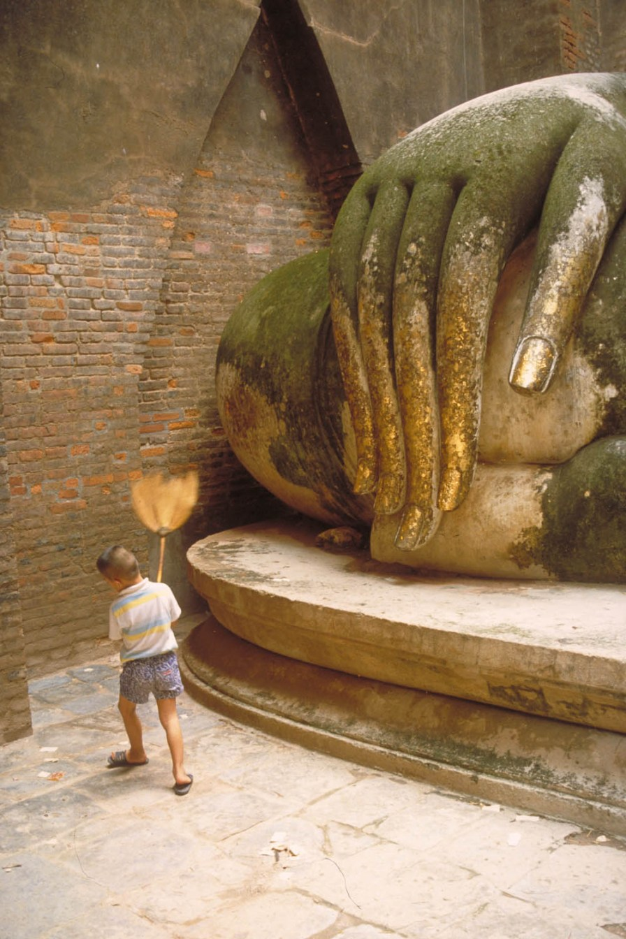 large Buddha hand and small sweeper