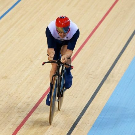New World Record - Mark Colbourne ( GBR ) - Men's C1 3km Individual Pursuit Qualifying © Christina Kelkel