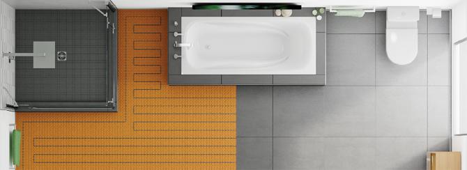 Calefacción en suelo y pared con DITRA-HEAT 02