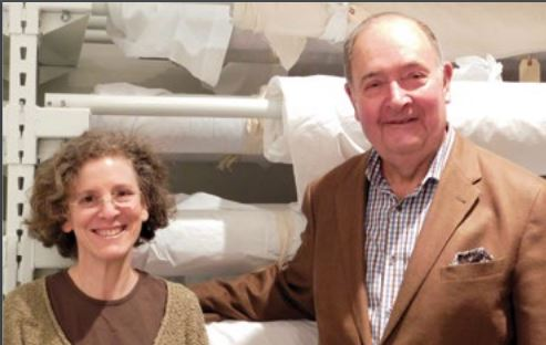 Conservator Lisa Goldberg and Collector Jack Walsh