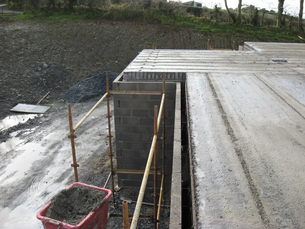 First Floor Slabs  - Grouted