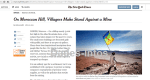 The New York Times:On Moroccan Hill, Villagers Make Stand Against a Mine